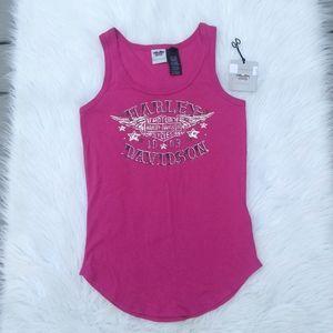 Harley Davidson Pink Tank Top NWOT